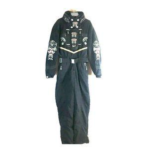 BOGNER Ultra Suede Embroidered Ski Snow Suit One 8